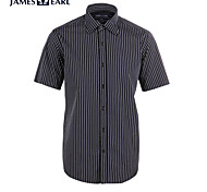 JamesEarl Men's Shirt Collar Short Sleeve Shirt & Blouse Gray - M21X5000918