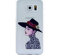 Girls Embossment Dull Polish Frame + Transparent TPU Soft Phone Case for Samsung Galaxy S3/S4/S5/S6/S6 Edge/S6 Edge +