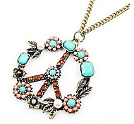 Antiwar Flowers Pendant Necklace Sweater Chain