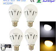 YouOKLight® 4PCS E27 9W 20*SMD5730 800LM White/ Warm White Light LED Energy saving High quality Globe Bulbs (AC 220V)