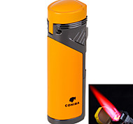 6699 Four Hole Blue Fire Windproof Torch -Yellow