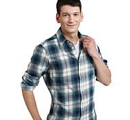 JamesEarl Men's Shirt Collar Long Sleeve Shirt & Blouse Purple - DA202046914
