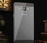 Metal Frame Acrylic Mirror Backplane Metal Hard Case for Samsung Galaxy A5