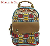 Kate & Co.® Women PVC / Canvas Backpack Multi-color - TH-02235