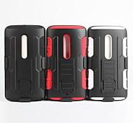 2 en 1 caso del diseño de la piel de plástico duro + funda de silicona exterior blanda para moto moto x3 / xt1561 / x jugar 5.5 (colores