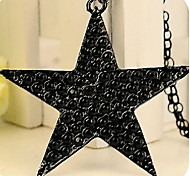 Korean Version Of The Simple And Stylish Black Five-pointed Star Sweater Chain