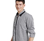 JamesEarl Men's Shirt Collar Long Sleeve Shirt & Blouse Black - DA112045826