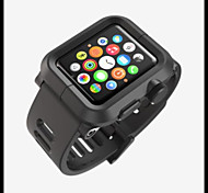 Apple Watch Case Rugged Protective Case with Strap Bands for Apple Watch / Watch Sport 38mm 42mm (PC Shell)
