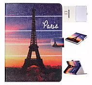 Evening The Eiffel Tower in Paris Pattern or and TPU Textile Cloth Card Slot Stents The Cladding For Apple iPad Air