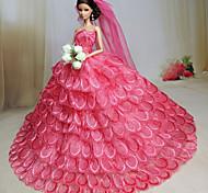 Barbie Doll - Abiti - Party & Sera - di Organza / Pizzo - Rosso bordeaux - Abiti