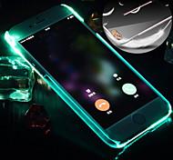 For iPhone 6 Case / iPhone 6 Plus Case LED Flash Lighting / Transparent Case Back Cover Case Solid Color Hard PCiPhone 6s Plus/6 Plus /