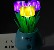 Energy-saving LED Color Rose Light-Operated Mode Night Light Lamp