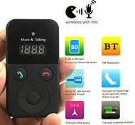 kit vivavoce per auto Bluetooth Wireless FM Trasmettitore usb sd lcd mp3 a distanza con il mic