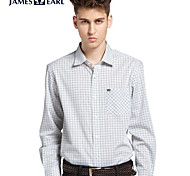 JamesEarl Men's Shirt Collar Long Sleeve Shirt & Blouse Purple - DA162029326