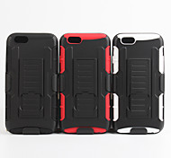 2 in 1 design case Hard Plastic Skin+Soft Outer Silicone Inner Shell Case for iPhone6/6S(Assorted Colors)