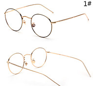 [Free Lenses]  Men 's Acetate/Plastic / Metal Oval Full-Rim Classic / Sunglass Style / Fashion Prescription Eyeglasses