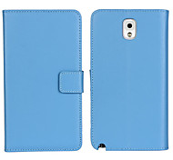 Genuine Leather Wallet Case for Samsung Galaxy Note 3 (Assorted Colors)