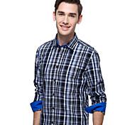 JamesEarl Men's Shirt Collar Long Sleeve Shirt & Blouse Purple - DA112047304