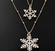 2pcs Designer Jewelry Snow Pendant Necklace
