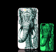 Elephant Pattern Glow in the Dark Hard Plastic Back Cover for iPhone 6 for iPhone 6s Case