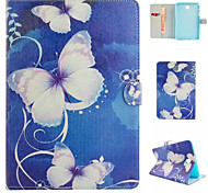 Blue Butterfly Flower Case for Tab A9.7/A8.0/S2 9.7/S2 8.0/E9.6/TAB 3Lite/TAB 4 7.0/TAB 4 10.1/TAB S10.5/TAB S8.4