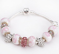 2 Colors Fashion 925 Sterling Silver bracelet Murano Glass Crystal European Charm Beads Strand Beads bracelets BLH058 Jewelry