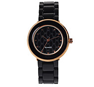 Fashion Ladies Watch Black Alloy Suit