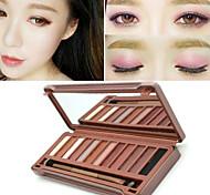 12 Sombra de Ojos Seco Paleta de sombra de ojos Polvo Normal