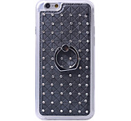 Diamond Soft TPU Cover Case Back With Mobile Phone Ring Bracket Mobile Phone Shell For iPhone 6/6S