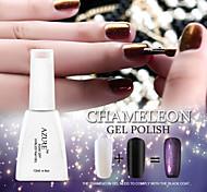Azure Beauty 3D Colorful Phantom Nail Gel Polish Chameleon Gel and Black Coat UV Gel Polish