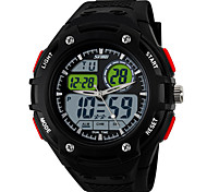 Multi-Function Sport Watch Dual Display Dual Movement Waterproof Watch (Assorted Color)