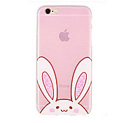 Lovely Rabbit Ears Candy Pink Color Pattern TPU Soft Case for iPhone 6/iPhone 6S