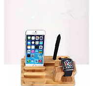 New Factory Wholesale Bamboo Wood Charge Stand for Apple Watch and for iPhone 6/Plus