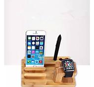 neue Fabrik Großhandel Bambusholz Ladestation für Apple Uhr und für iphone 6 / Plus