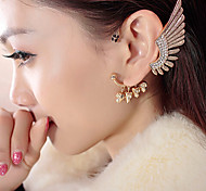 New Arrival Fashional Rhinestone Wing Earhook Earring