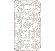 Lace Flowers Pattern Soft Material Transparent TPU Phone Case for Samsung Galaxy J5