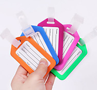 1 PC Luggage Tag Waterproof Anti Lost Reminder for Luggage Accessory PP (Polypropylene)-Yellow Red Blushing Pink Light Blue Light Green