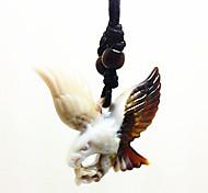 Men Fashion Imitation Ceramic Eagle of Jewelry Spike Lovers Necklace