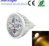 4W GU5.3(MR16) Spot LED MR16 4 LED Haute Puissance 320 lm Blanc Chaud Décorative DC 12 V 1 pièce