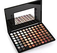 88 Palette de Fard à Paupières Sec Fard à paupières palette Poudre Grand Maquillage Quotidien / Maquillage Smoky-Eye
