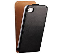 Flip véritable style d'affaires en cuir pour iPhone 4 / 4S (couleurs assorties)