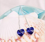 The heart of the ocean 925 Tremella long earrings