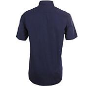 JamesEarl Men's Shirt Collar Short Sleeve Shirt & Blouse Black - M21X5001104