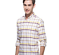 JamesEarl Men's Shirt Collar Long Sleeve Shirt & Blouse Purple - DA192034433