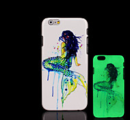 Ariel Pattern Glow in the Dark Hard Plastic Back Cover for iPhone 6 for iPhone 6s Case