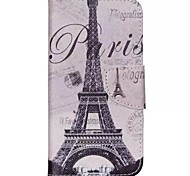 Iron Tower Painted PU Phone Case for Wiko Rainbow Up