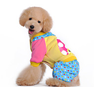 Dog Coat / Clothes/Jumpsuit Multicolored Winter Polka DotsHalloween / Birthday / Easter / Thanksgiving / Christmas / St. Patrick's Day /