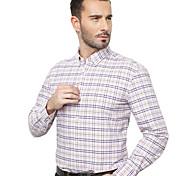 JamesEarl Men's Shirt Collar Long Sleeve Shirt & Blouse Purple - DA192034318