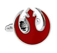 New Republic Star Wars emblem flame red hollow French shirt cufflinks cuff nail