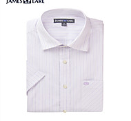 JamesEarl Men's Shirt Collar Short Sleeve Shirt & Blouse Purple - DA172029633